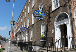 Outside Citi Backpackers Hostel Dublin